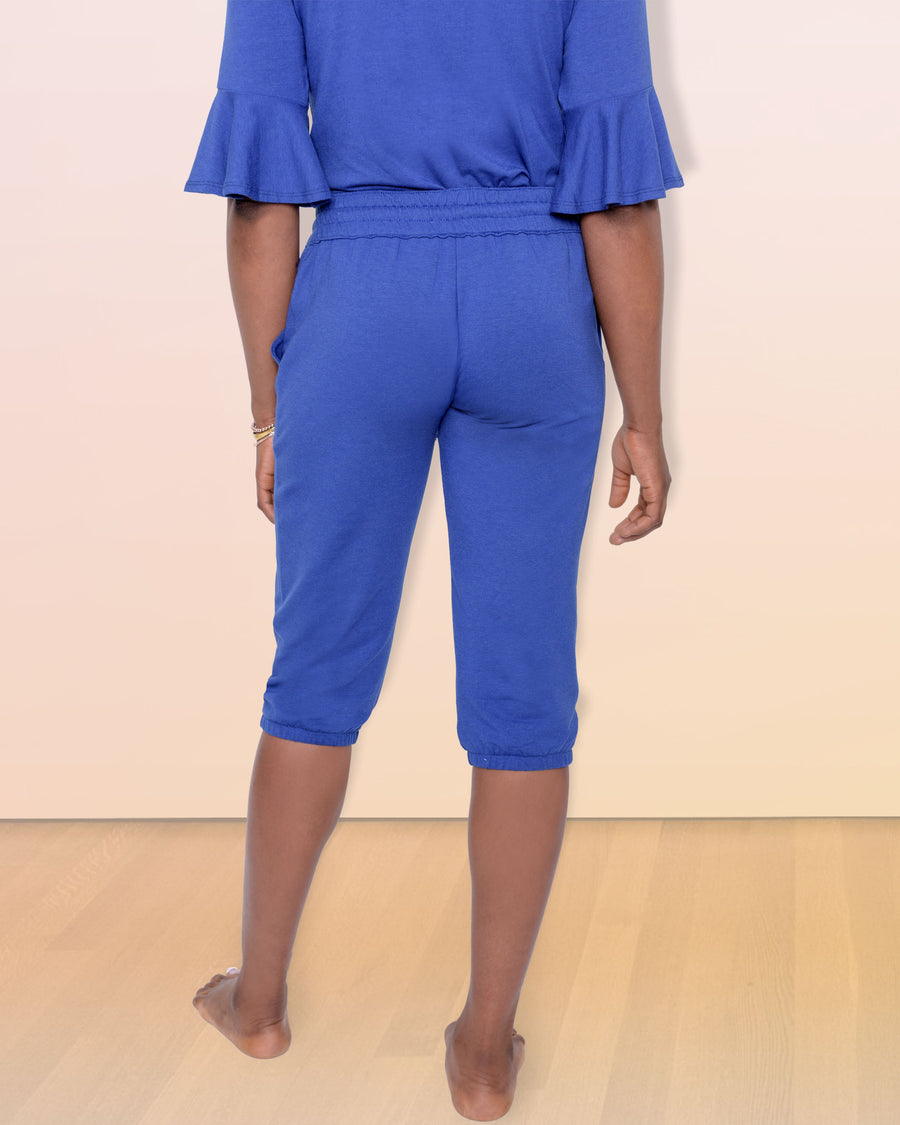 shopvois.com Sustainable Ethical Clothing Fancy Sweat Pants in Ocean Blue Back