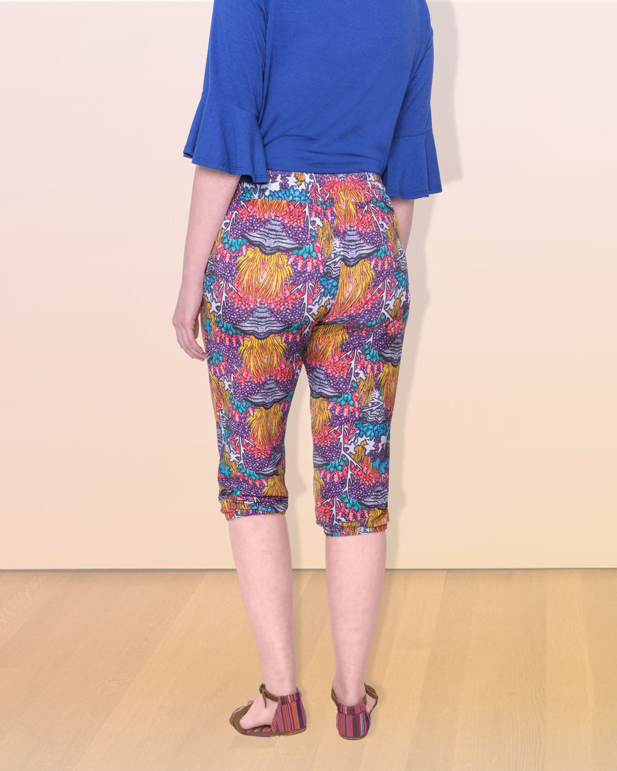 shopvois.com Sustainable Ethical Clothing Fancy Sweat Pants in Coral Reef Print Back