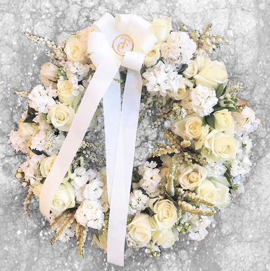 Vanilla Wreath - Tomuri & Co. Floral Designs