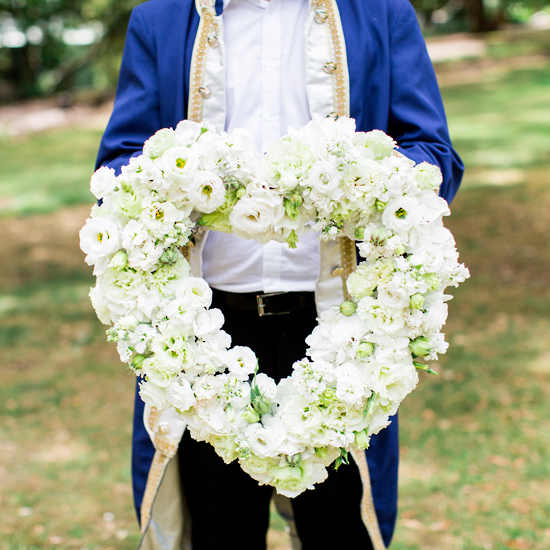 White Heart Tribute - Tomuri & Co. Floral Designs