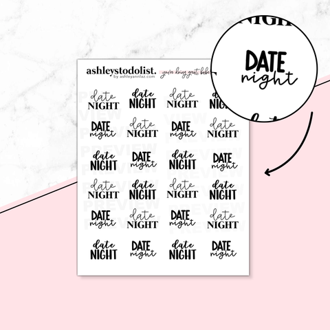 Date Night Script Stickers