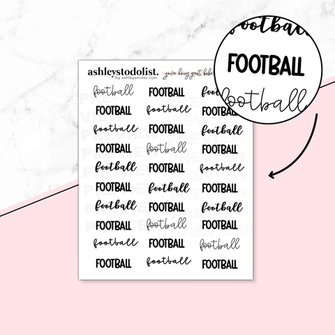 Football Script Stickers