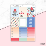 Vertical Weekly Planner Sticker Kit -  [With My Gnomies]