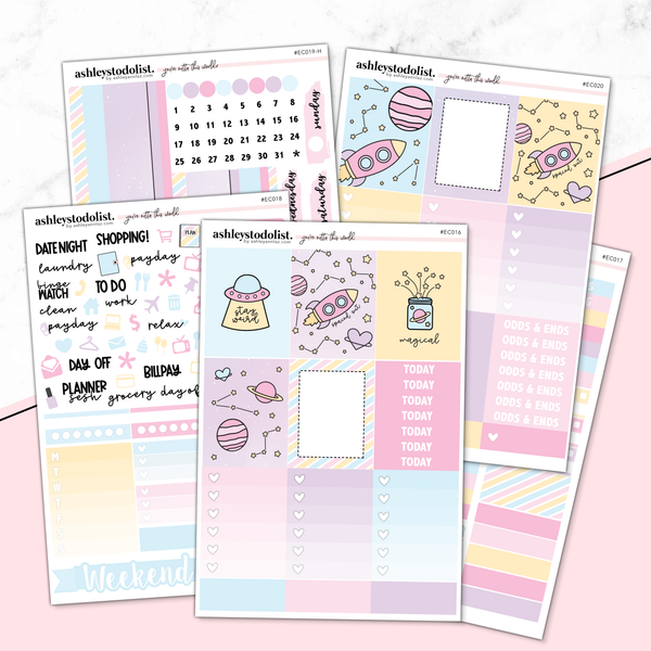 Erin Condren Weekly Planner Sticker Kit -  [Spaced Out]