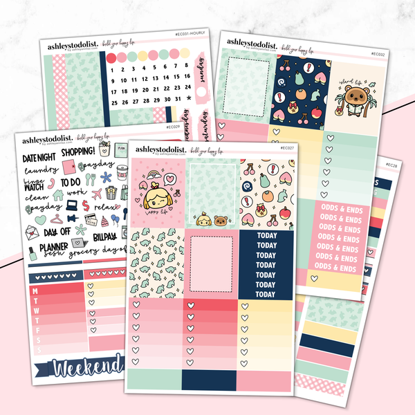 Vertical Weekly Planner Sticker Kit -  [New Horizons]