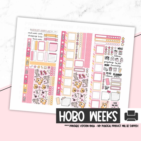 Hobonichi Weeks Kit  - I Love My Kids [Printable]