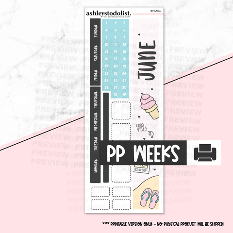 PP Weeks Monthly June 2020 - Printable