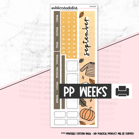 PP Weeks Monthly September 2020 - Printable