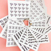 Shopping Text Mini Functional Stickers