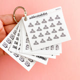Shopping Trip Text Mini Functional Stickers