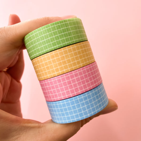 Lucky Charms Pastel Grid Washi Tape