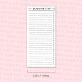 Shopping List Page - Full Page Sticker [Printable]