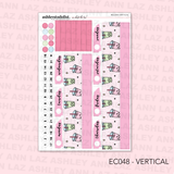 Vertical Weekly Planner Sticker Kit -  [What's the Tea?]