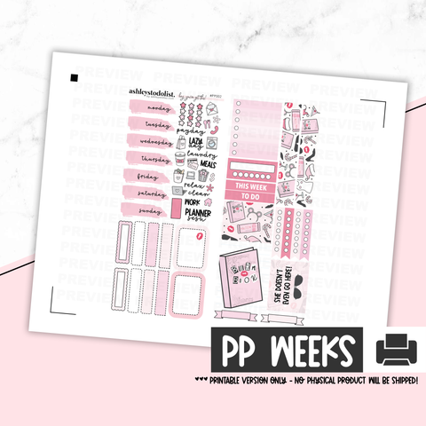 Print Pression Weeks Printable Kit - I'm A Cool Planner [Printable]