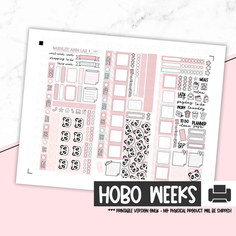 Hobonichi Weeks Kit - Panda [Printable]
