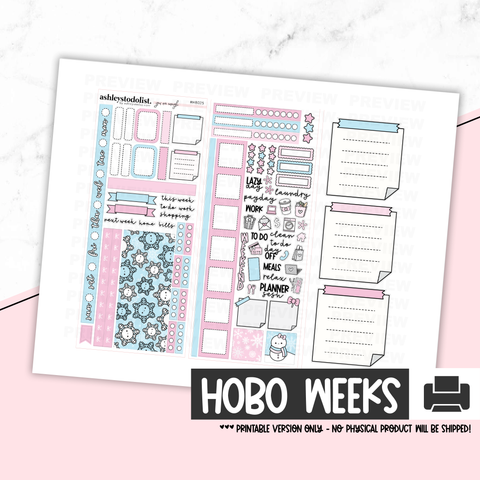 Hobonichi Weeks Printable Kit - Winter Wonderland [Printable]