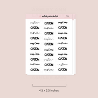 Custom Text Script Stickers