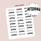 Afterpay Script Stickers