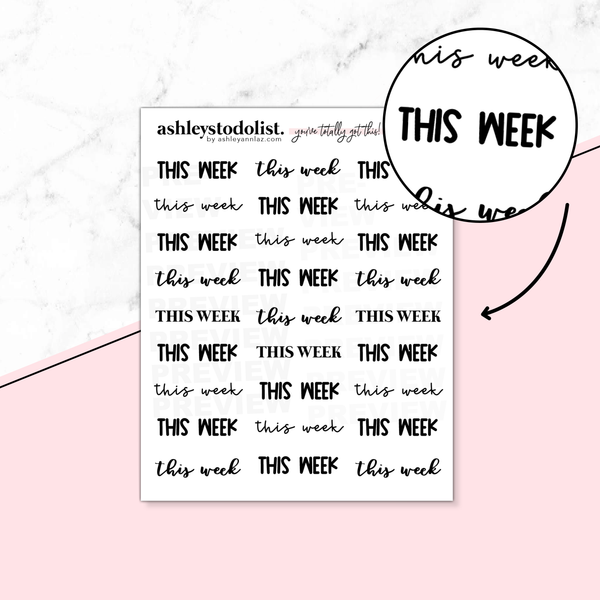 This Week Script Stickers