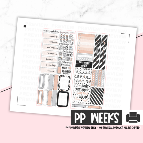 Print Pression Weeks Printable Kit - Up To Me [Printable]