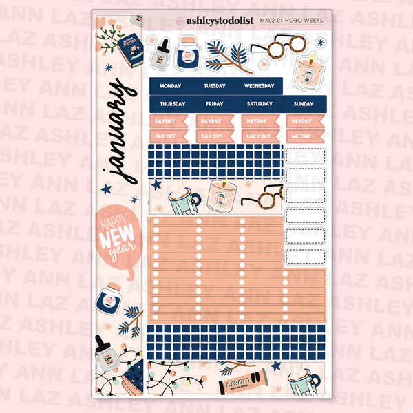 January Monthly Sticker Kit