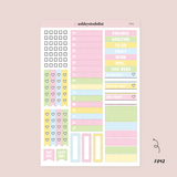 Mini Weekly Planner Sticker Kit - Lucky Charms