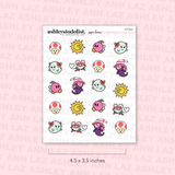 Paper Heroes Tinies Stickers - Mario Friends
