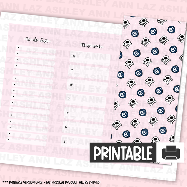Hobonichi Printable Dashboard / Pencil Board - Daydreamer