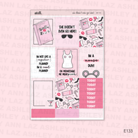 Vertical Weekly Planner Sticker Kit - So Fetch