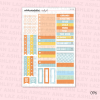 Vertical Weekly Planner Sticker Kit - Autumn Days