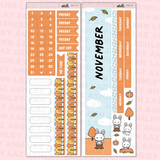 November Monthly Sticker Kit
