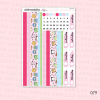 Vertical Weekly Planner Sticker Kit -  Chubbymons