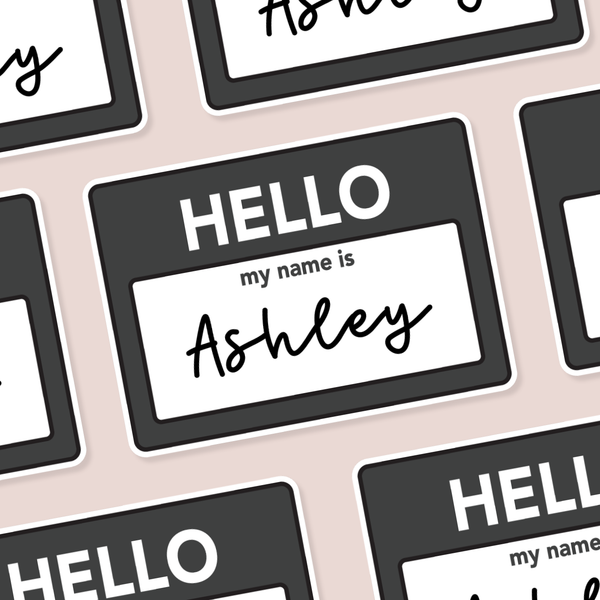 "Custom ""Hello My Name Is"" Name Die Cut"