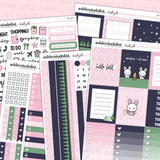 Vertical Weekly Planner Sticker Kit - Campfires & Cocoa