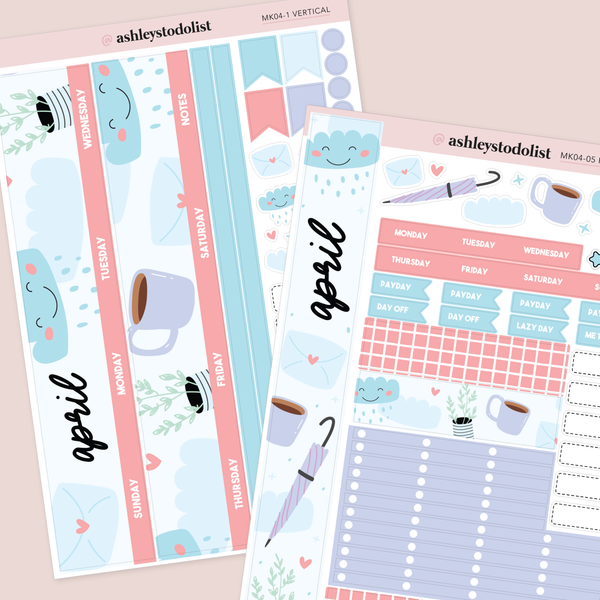 April Monthly Sticker Kit