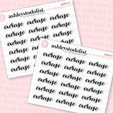 Exercise Text Mini Functional Stickers