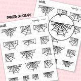 Clear Spider Webs Deco Sheet