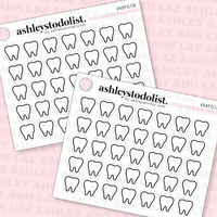 Dentist Icon Mini Functional Stickers