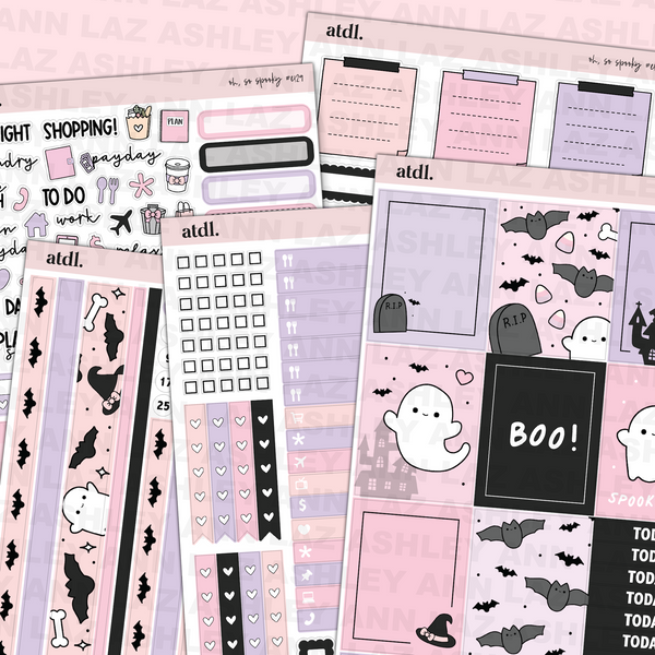 Vertical Weekly Planner Sticker Kit - So Spooky