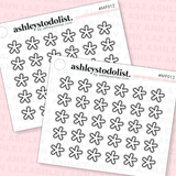 Asterisk Icon Mini Functional Stickers