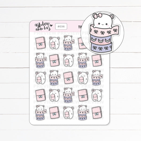 Kawaii Mimi Washi / Planning / Traveler's Notebook Planner Stickers