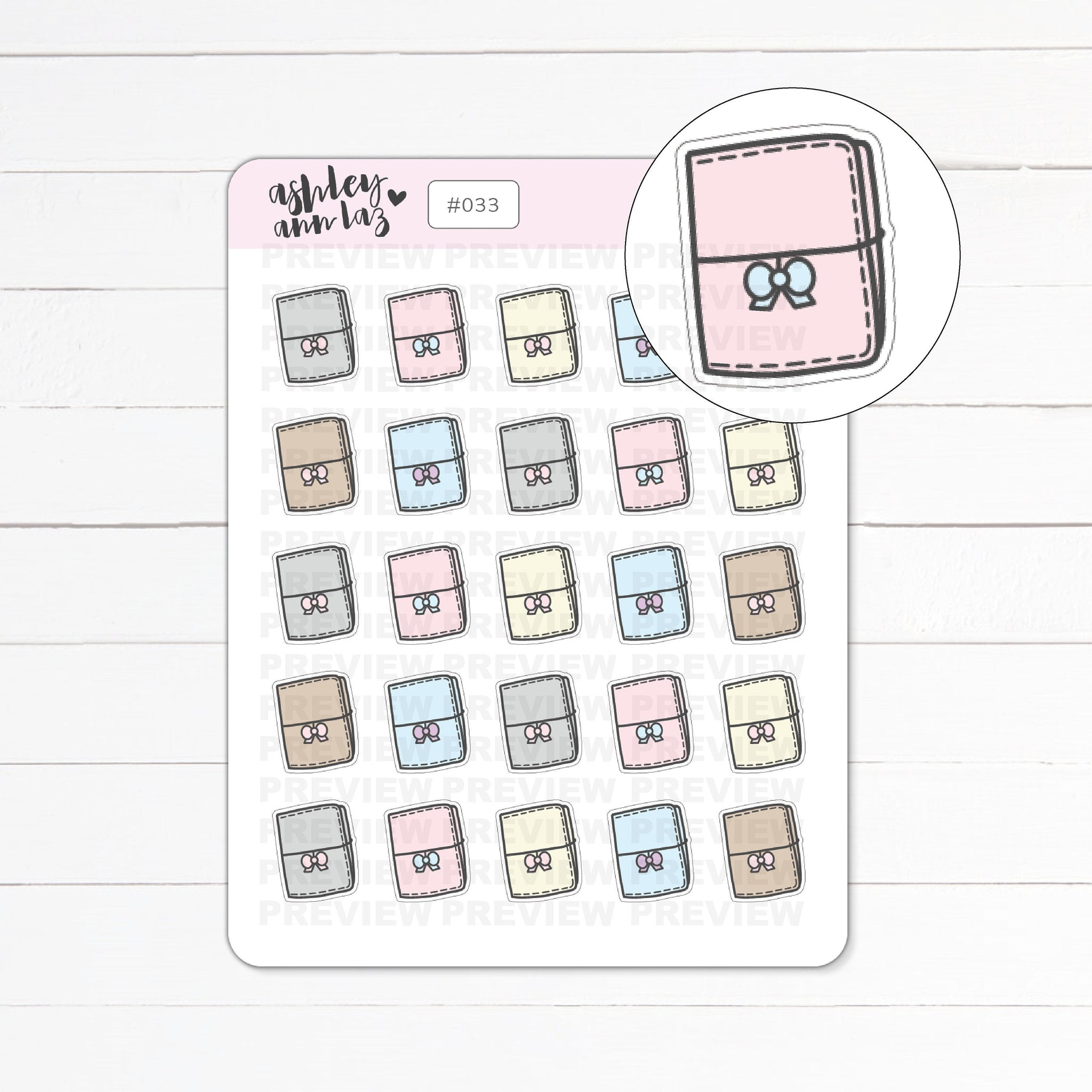 Kawaii Tinies / Traveler's Notebook Planner Stickers
