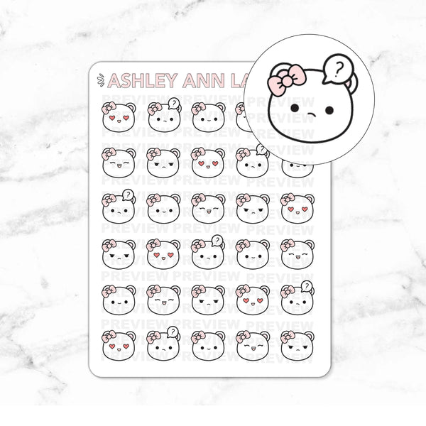 Mimi Emotions / Expression Planner Stickers - Hand drawn kawaii doodle stickers!