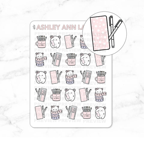 Kawaii Mimi Washi / Planning / Hobonichi Jelly Cover Planner Stickers