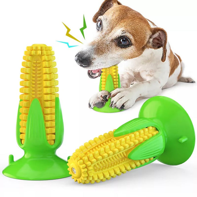Corn- Shaped Dog Toothbrush, Dog Teeth Cleaning Toy