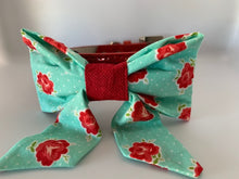 Load image into Gallery viewer, Red and Teal Sailor Bow