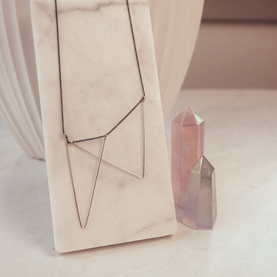 Antonia Sterling Silver Triangle Necklace
