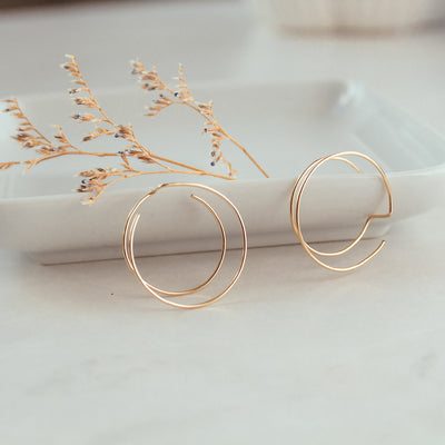 Double Circle Gold-filled Earrings