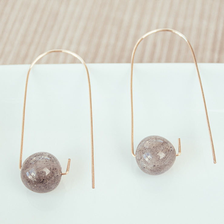Labradorite Gold-filled Earrings