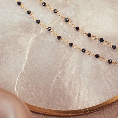 Elina Gold-filled Hematite Necklace